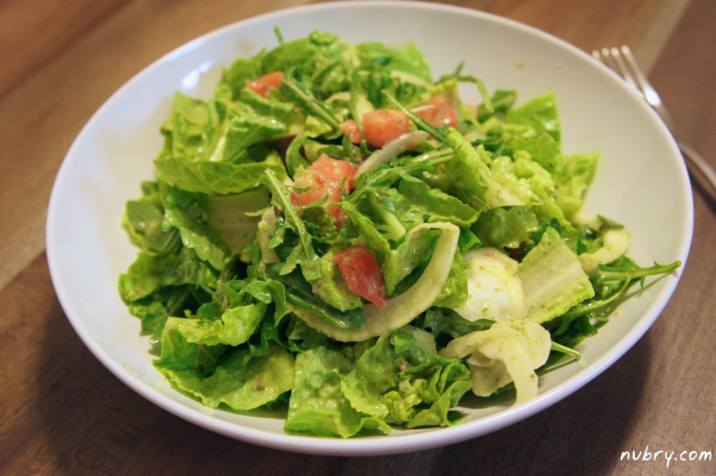 Detox Salad with homemade cilantro dressing