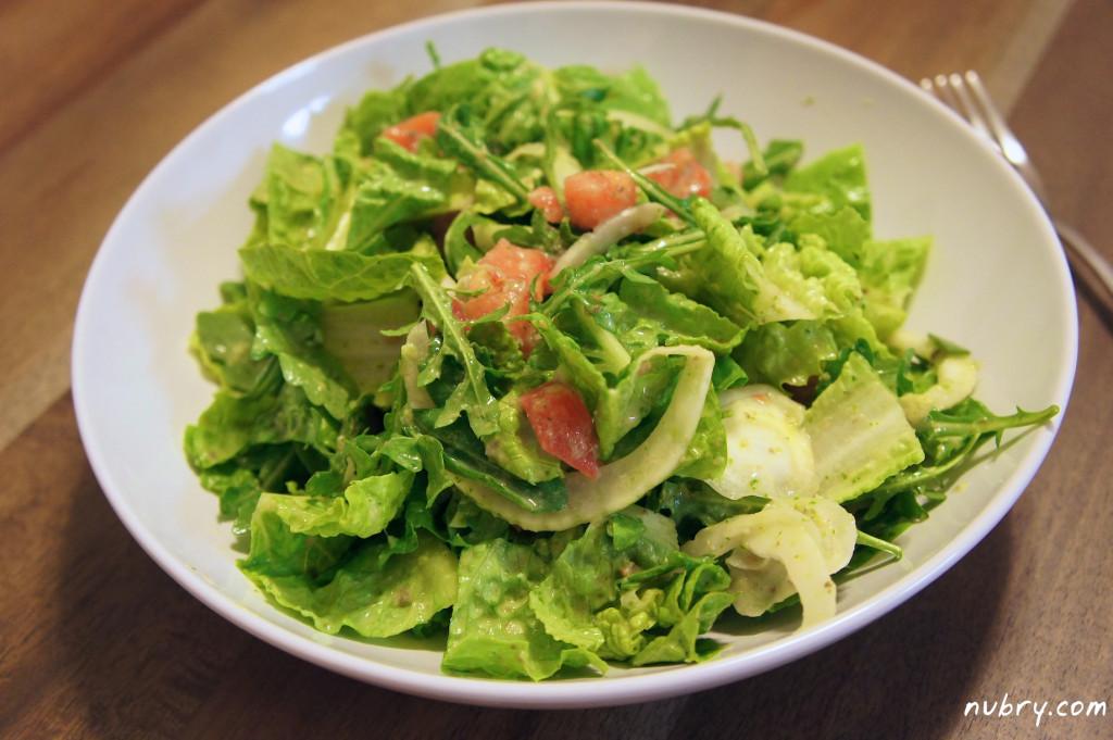 Detox Salad with homemade cilantro dressing