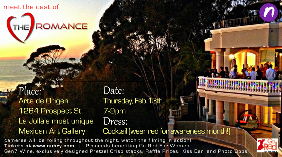 """Join us this Thursday evening at Arte de Origen as we meet the cast of """"The Romance""""! Buy tickets here - proceeds benefiting Go Red for Women."""
