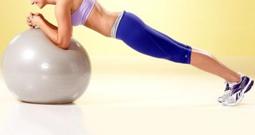 abdominal exercises for women - stability ball - plank - stir the pot