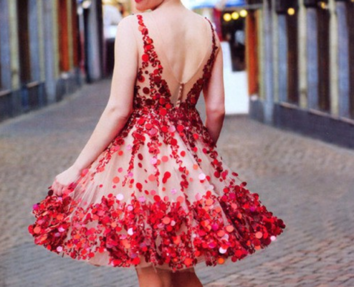 valentines day outfits - red party dresses for women