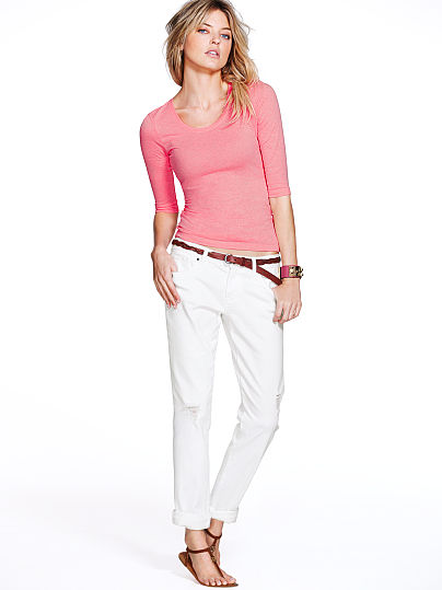 White Denim Boyfriend Jeans