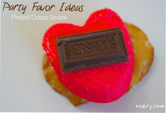 cute cracker recipe - party favor ideas - pretzel crisps - heart peeps