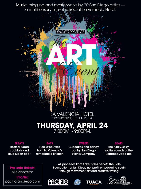 san diego events - the art event at la valencia hotel - present by pacific magazine