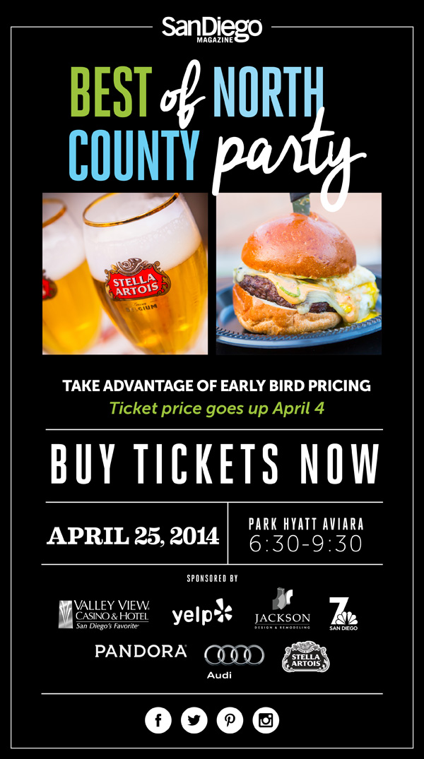 San Diego Magazine Best of North County Party on April 25, 2014