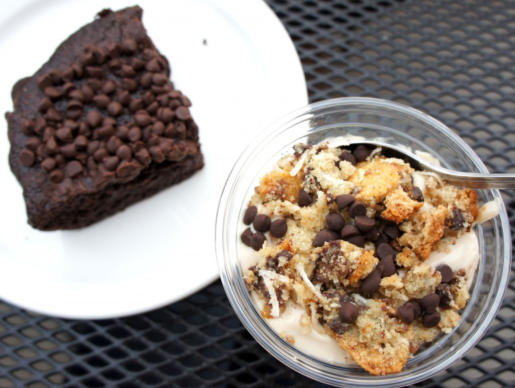 Native Foods Cafe's Peanut Butter Parfait and Double Delight Brownie