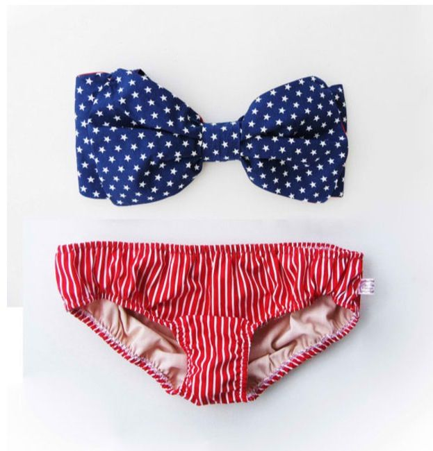 american flag bow bikini - memorial day weekend outfit ideas 2014
