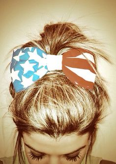american flag hair bow - memorial day weekend 2014 outfit ideas