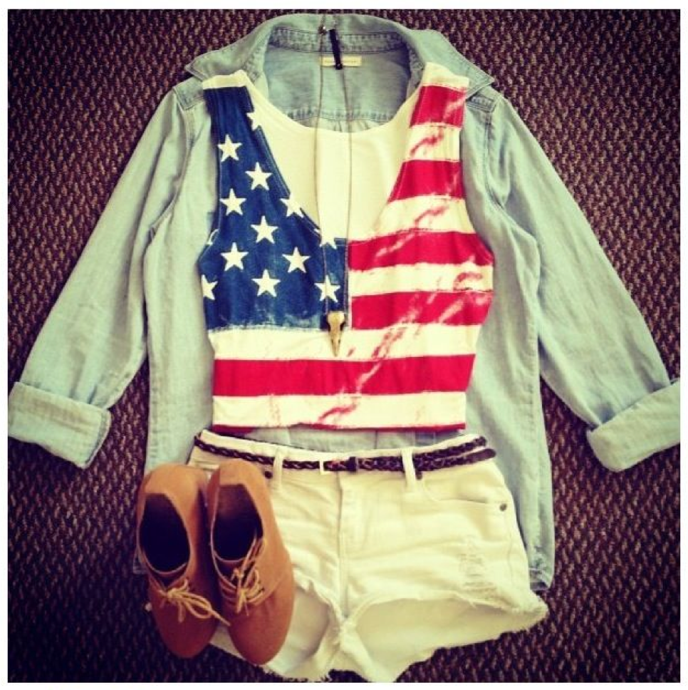 american flag outfit - memorial day weekend outfit ideas 2014