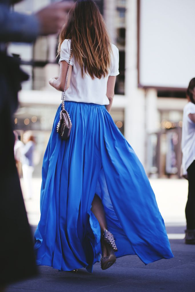 blue maxi skirt -outfit ideas for memorial day weekend 2014