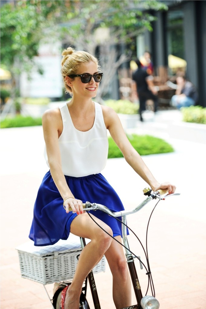 blue skirt and white blouse - memorial day weekend outfit ideas 2014