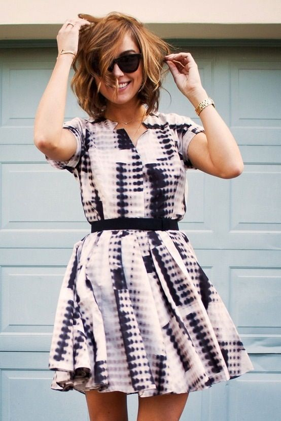 patterned dress - black and white dress - memorial day weekend outfit ideas 2014