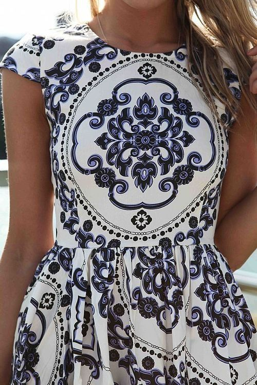 patterned dress - memorial day weekend outfit ideas