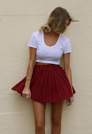 red skirt white crop top - outfit ideas for memorial day weekend 2014