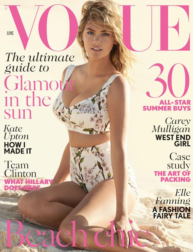 swimwear trends 2014 - bustier bikini - kate upton vogue uk June 2014 cover