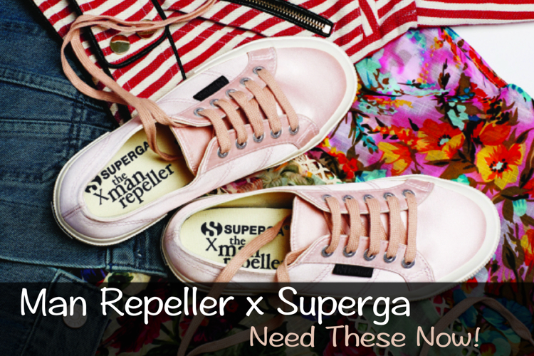 Man Repeller x Superga Pink Satin Lace Up Sneaker - need this now