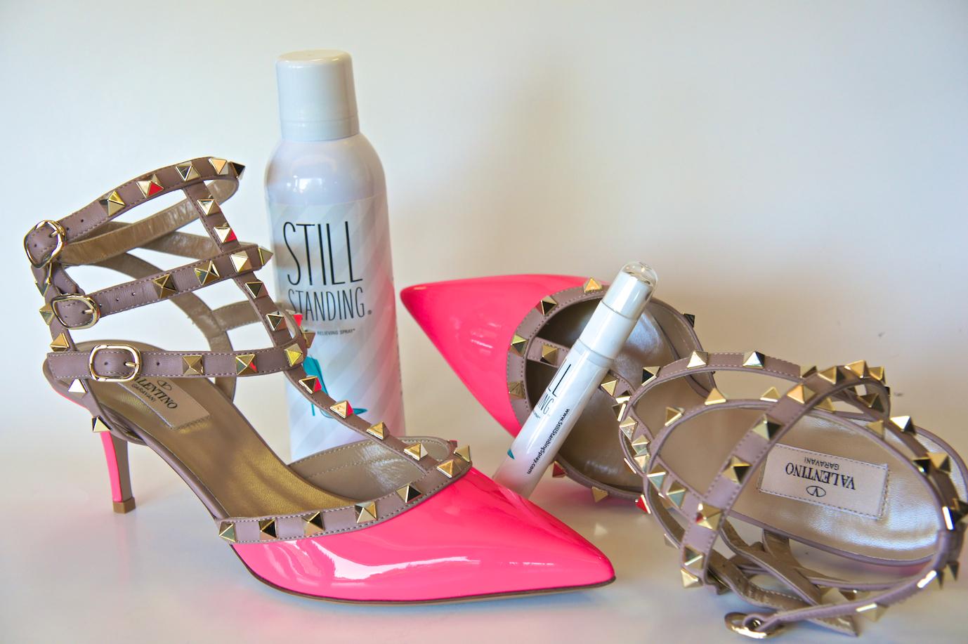 Still-Standing-valentino-Rockstud-heels-pain-relief
