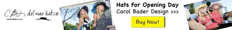 buy hat for opening day del mar - carol bader design