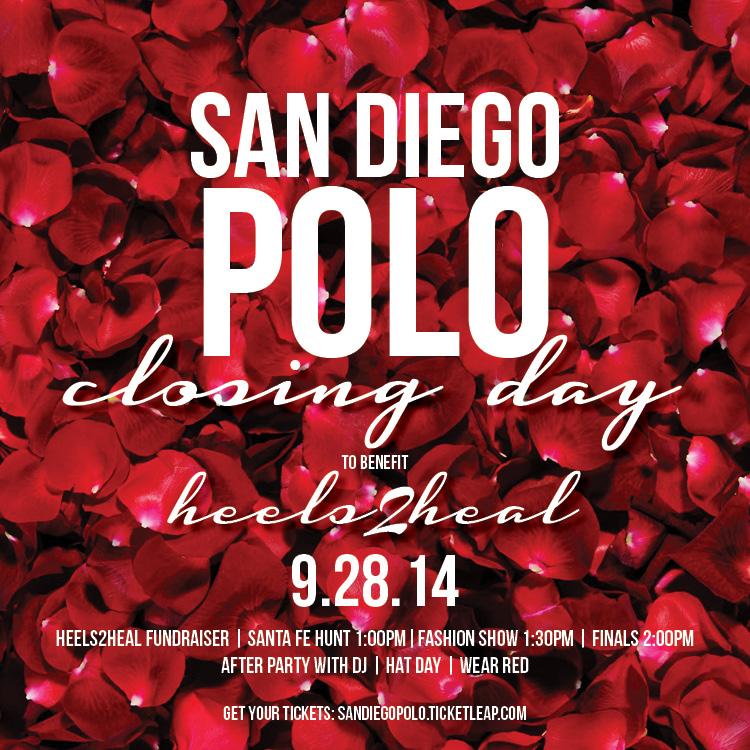 Closing Day san diego polo nubry heels2heal