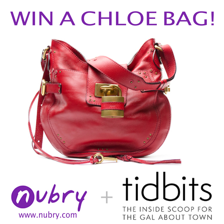 chloe bag giveaway - nubry and tidbits san diego