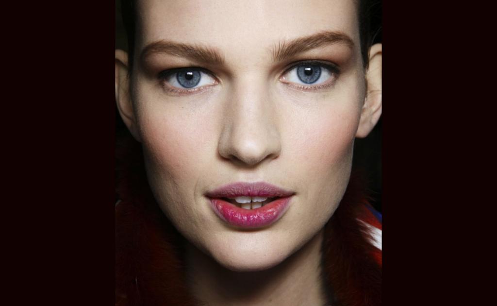 deep berry lips - fall makeup trends 2014 - carolina herrera