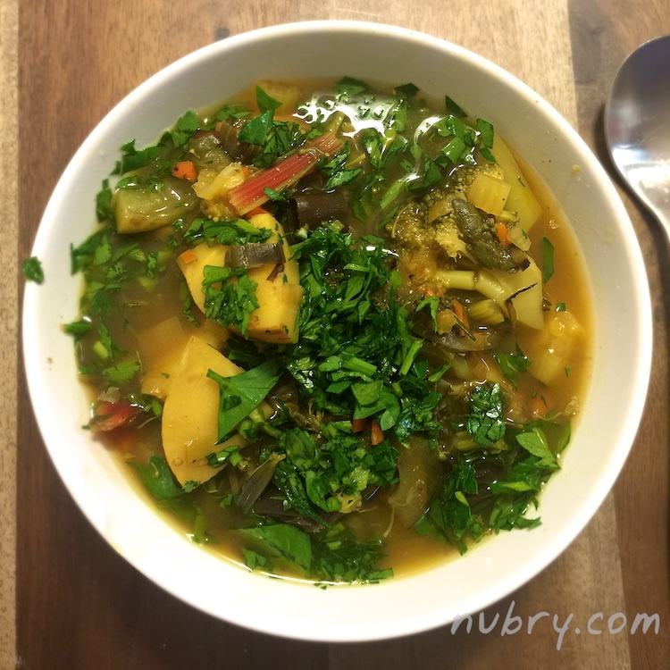 vegetable soup recipe - detox and weight loss - turmeric 3