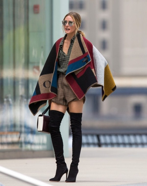 last minute Thanksgiving outfits - olivia palermo burberry cape