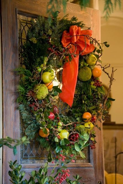 thanksgiving decorating ideas - fruit wreath for fall