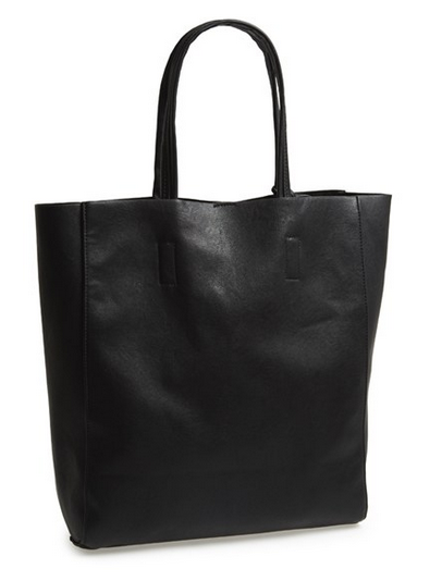 Black Leather Tote Plain Nordstrom Holiday Gift Ideas