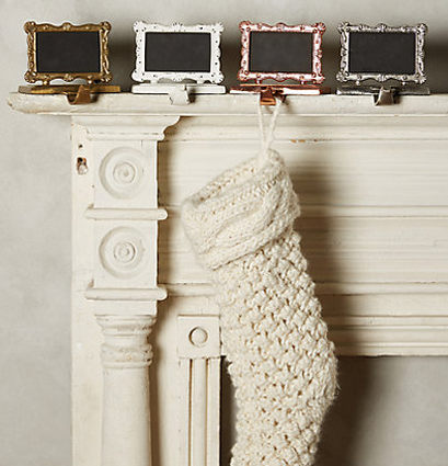 Chalk Stocking Holders Anthropologie Holiday Gift Ideas
