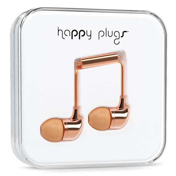 Rose Gold Headphones Happy Plugs Holiday Gift Ideas