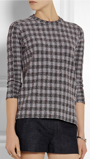 sweaters for women boucle plaid victoria beckham sweater