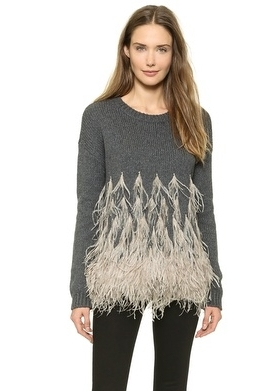 sweaters for women elizabeth and james feather detailed sweater