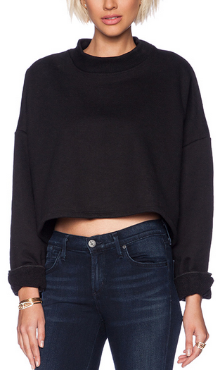 sweaters for women revolve clothing grey cropped crew neck