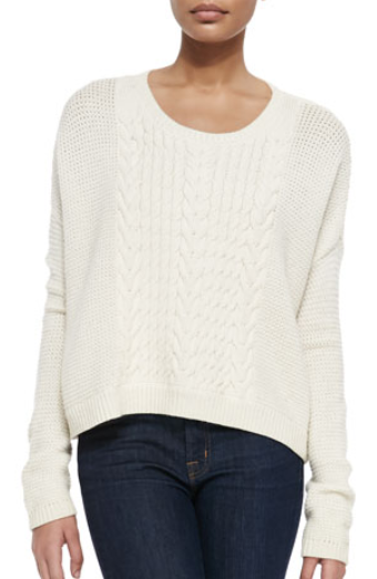 sweaters for women ribbed crew neck ivory sweater