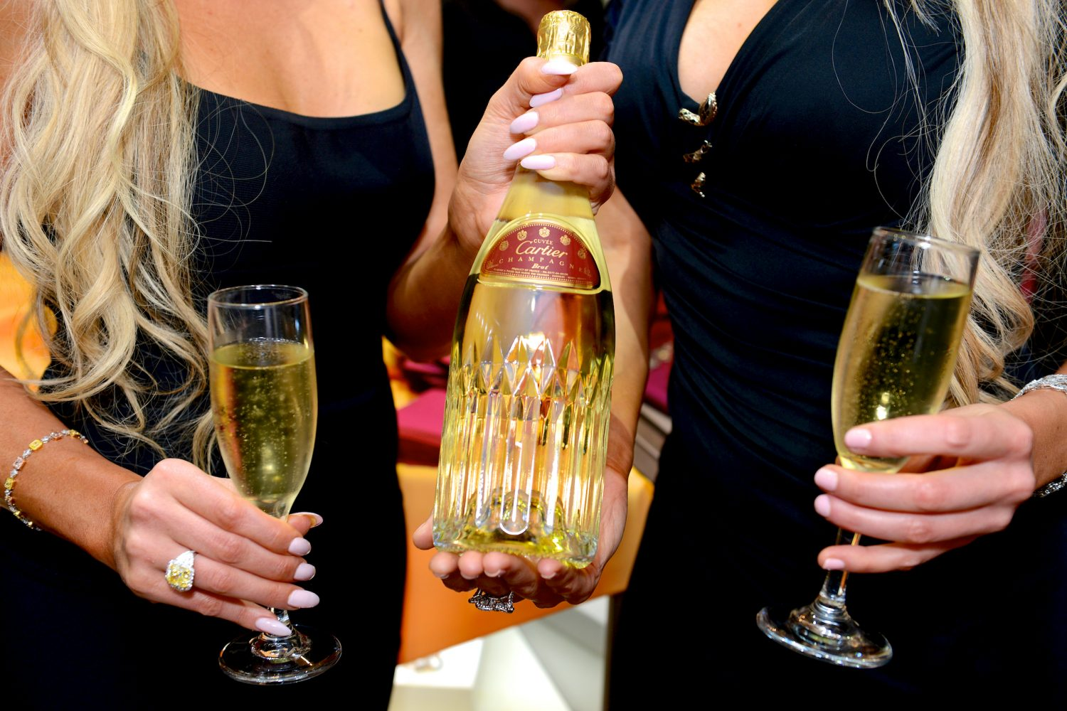 Cartier champagne was served all evening.