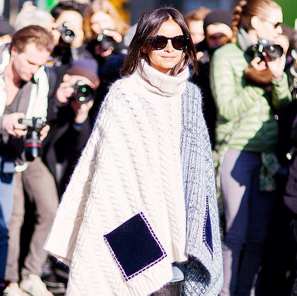 how to wear a poncho - 6 ways for winter - poncho street style