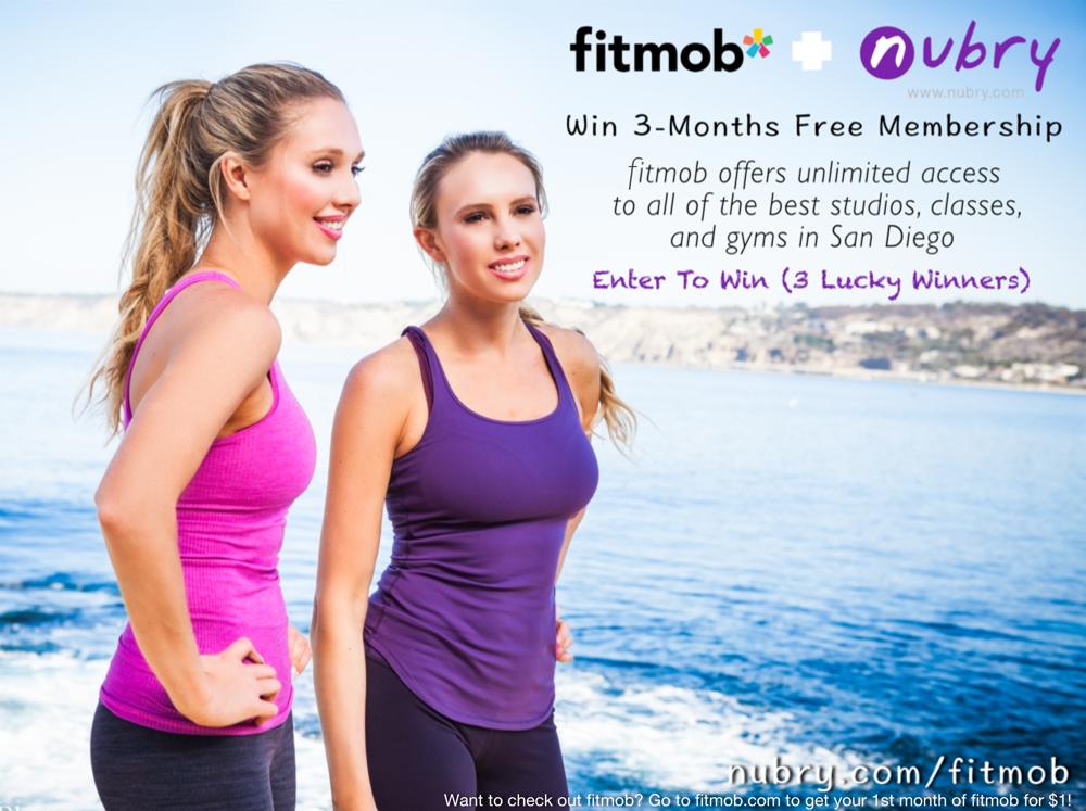 san diego fitness giveaWay - fitmob + nubry