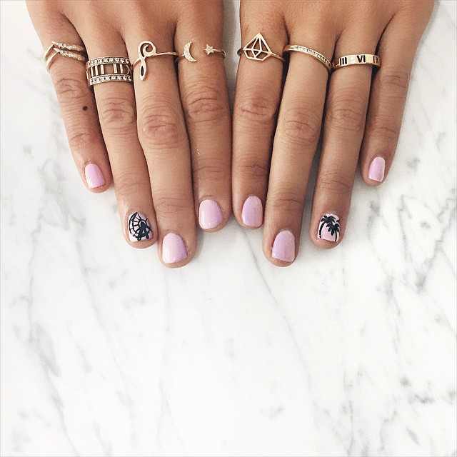 coachella fashion trends 2015 - icons painted on manicure - song of style