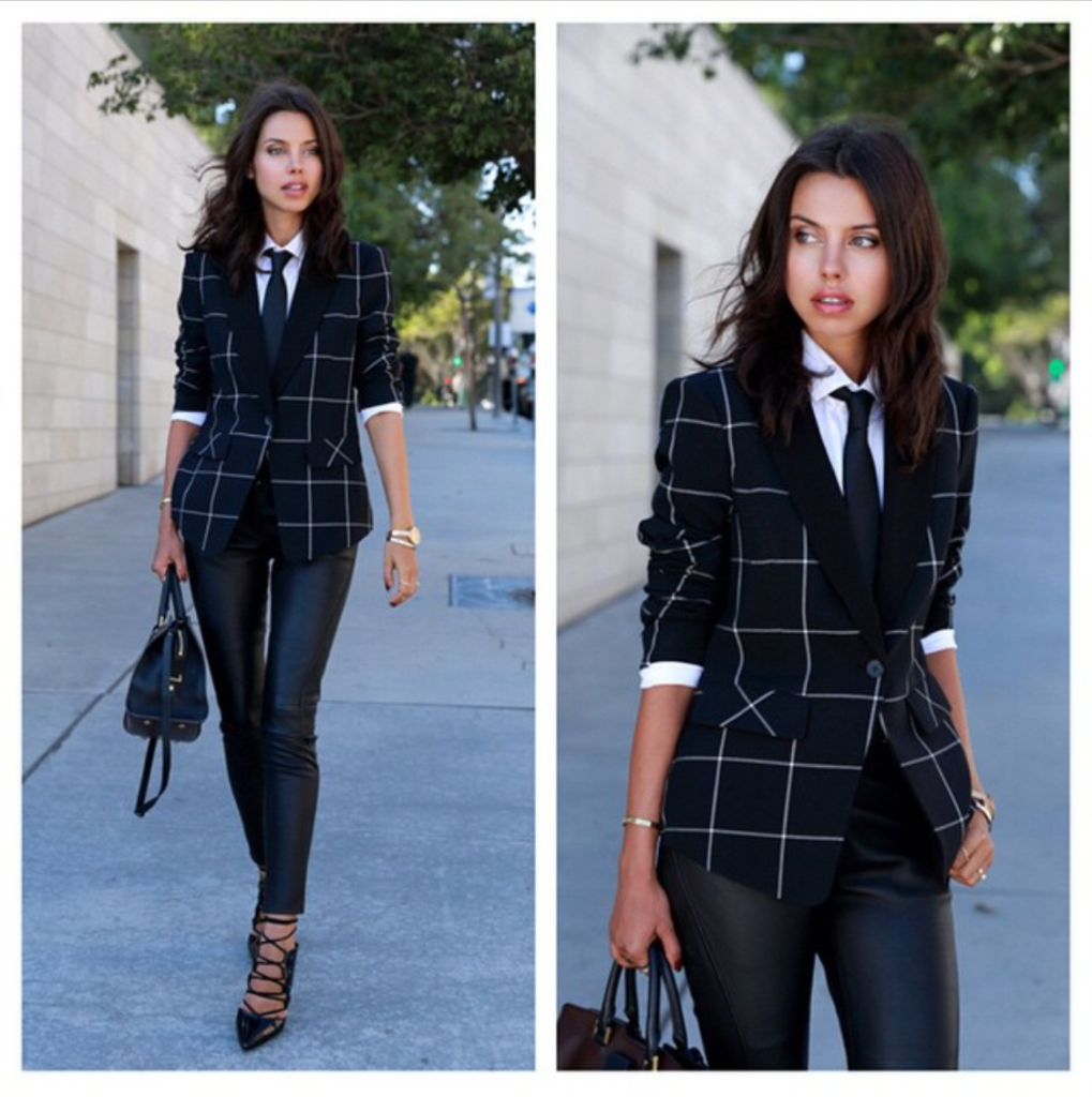 stilettos with menswear blazer - viva luxury