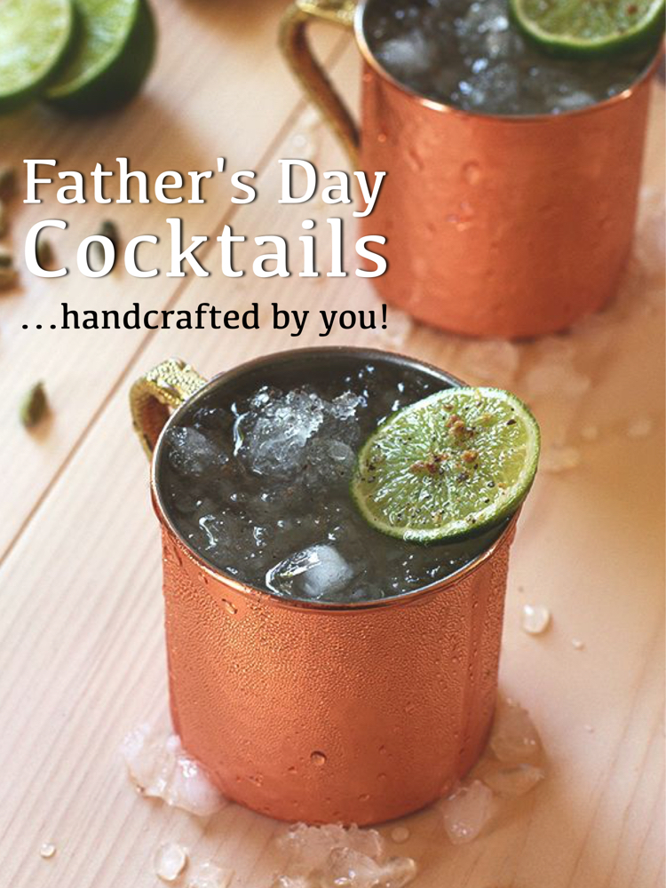 Handcrafted Fathers Day Cocktails - oak by absolut mule