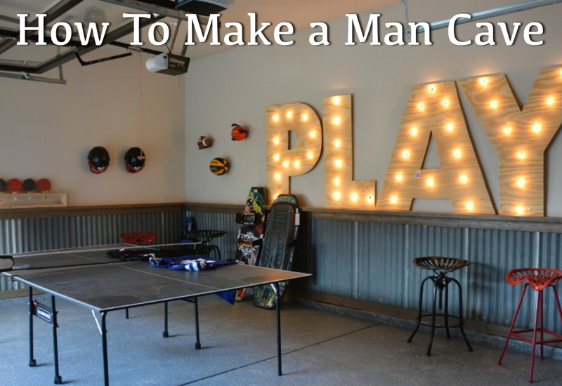how to make a man cave - fathers day 2015