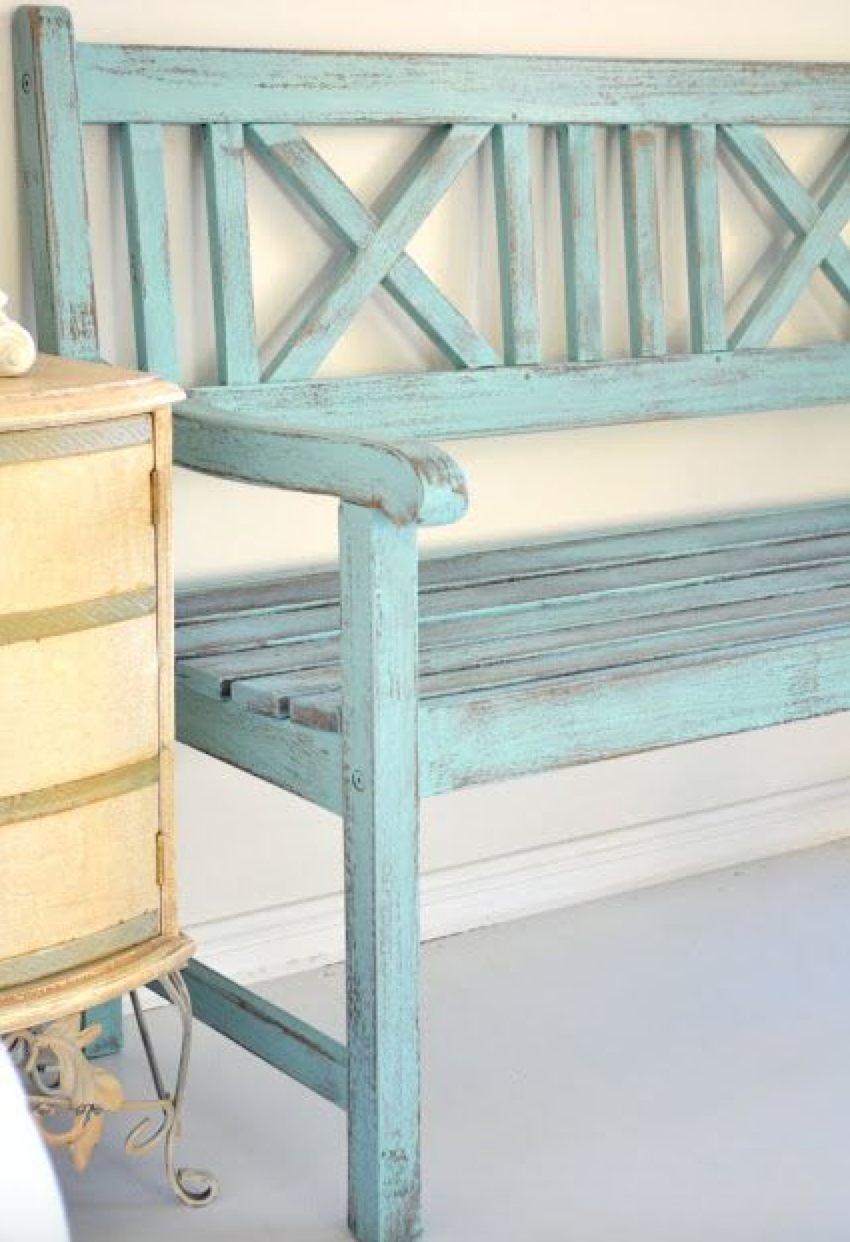 paint old furniture for front porch