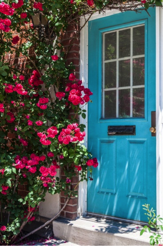 summer porch update - paint front door