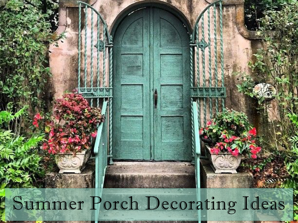 summer porcha decorating ideas DIY - ultimate curb appeal