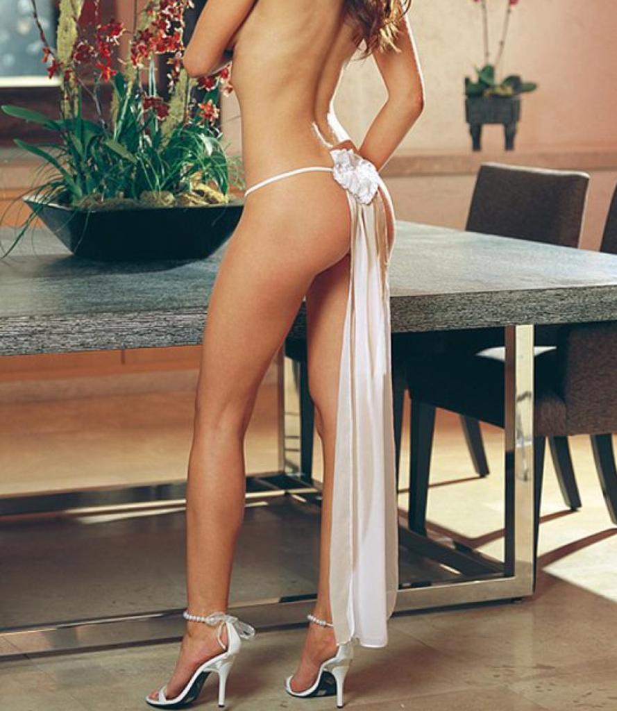 wedding veil thong with applique - sexy bridal lingerie