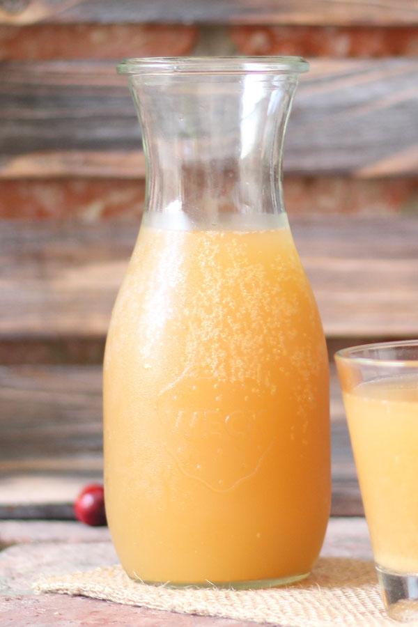 apple cider vinegar + water