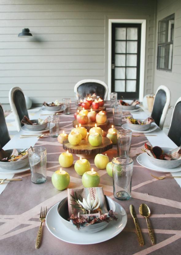 Thanksgiving apple tea lights