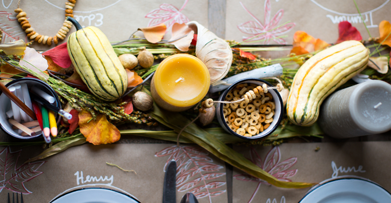 Inexpensive thanksgiving table décor you can make yourself
