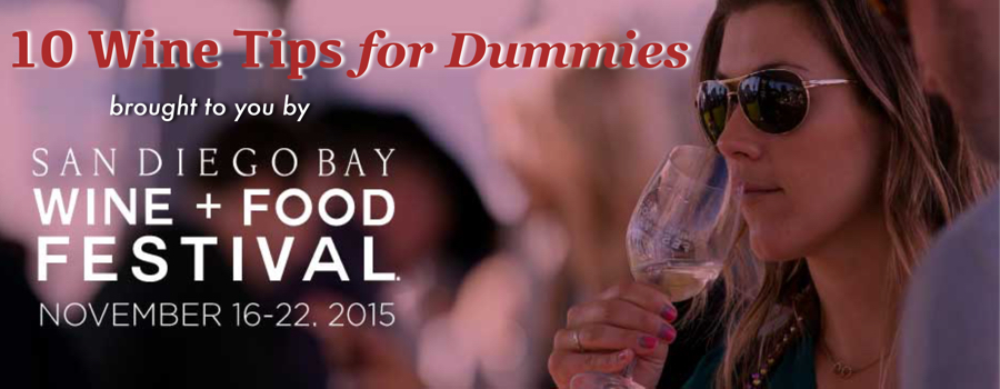 wine tips for dummies - san diego bay and wine festival 2015